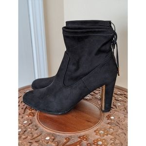 Shoedazzle Black Heeled Booties 11
